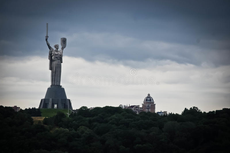Motherland monument in Kiev, Ukraine . stock image