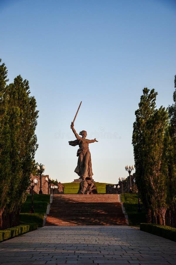 motherland wolgagrad Russland stockbilder