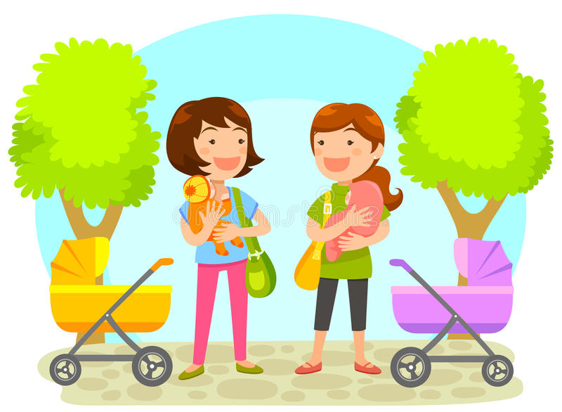 Download Mothers with babies stock vector. Image of character - 40811824