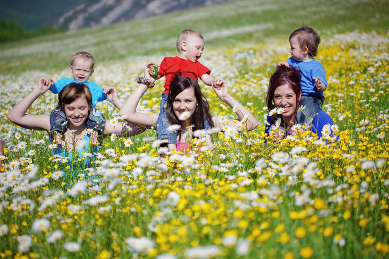 Download Mothers with children stock photo. Image of communication - 14630196