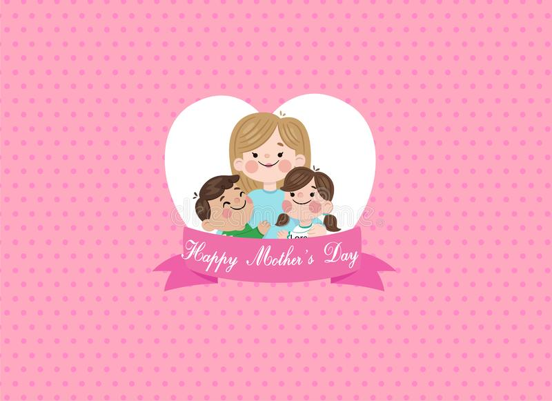 Happy mothers day design concept greeting card vector image stock illustration