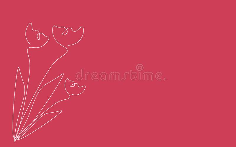 Mothers day background with flowers, vector. Illustration stock illustration