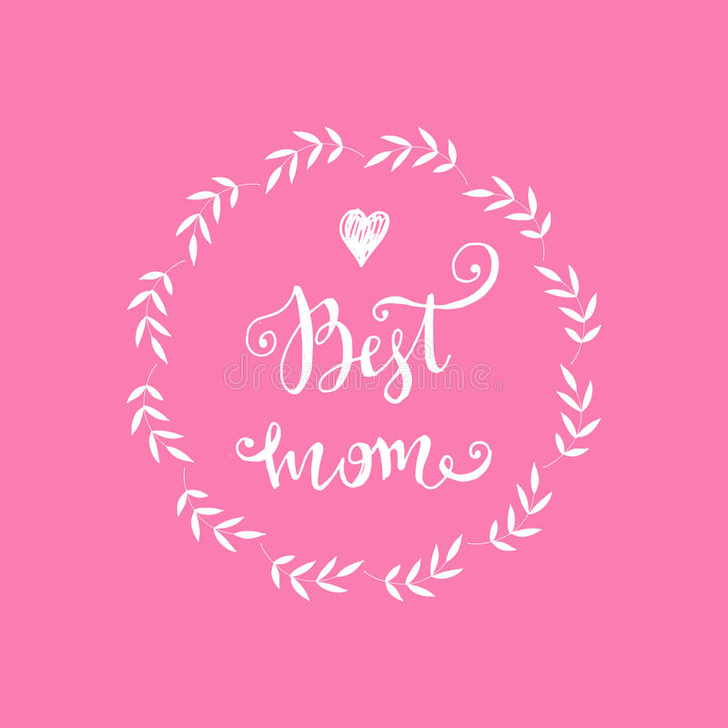 Mothers Day poster royalty free stock photos