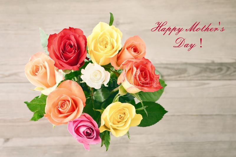 Mothers Day. Bouquet Of Roses. Stock Photo - Image of bouquet ...