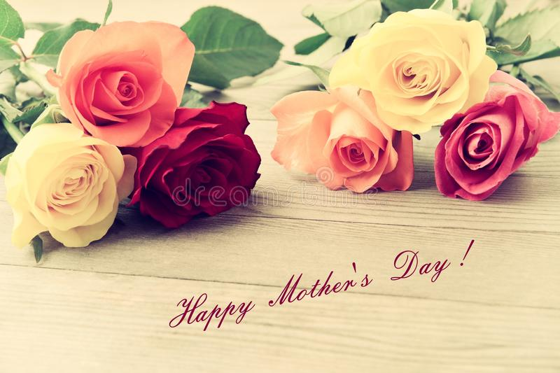 Mothers Day. Bouquet Of Roses. Stock Photo - Image of freshness ...