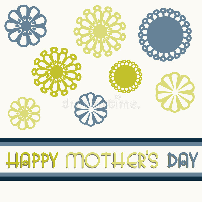 Mothers day card royalty free illustration