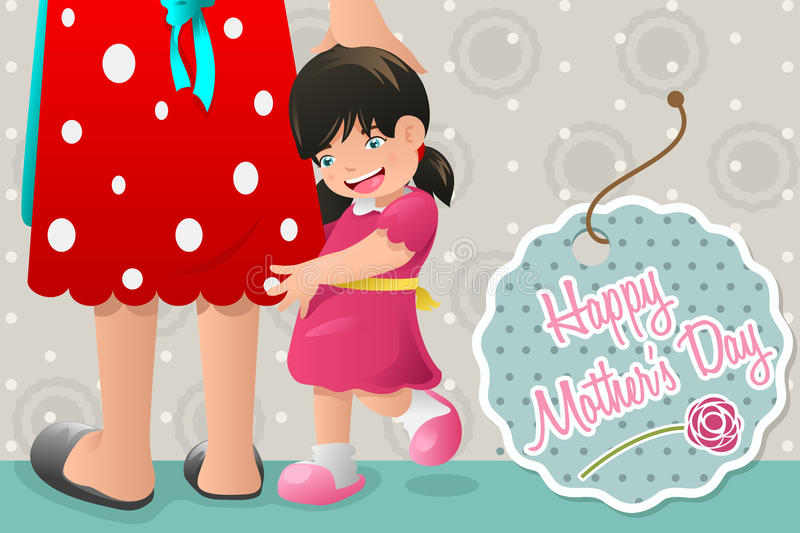 Mothers day card design stock illustration