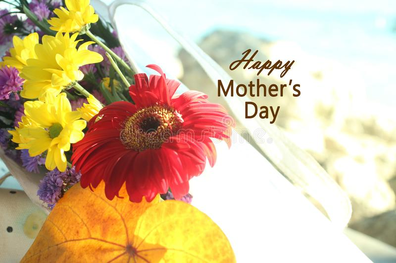 Mothers day card and greetings royalty free stock photos