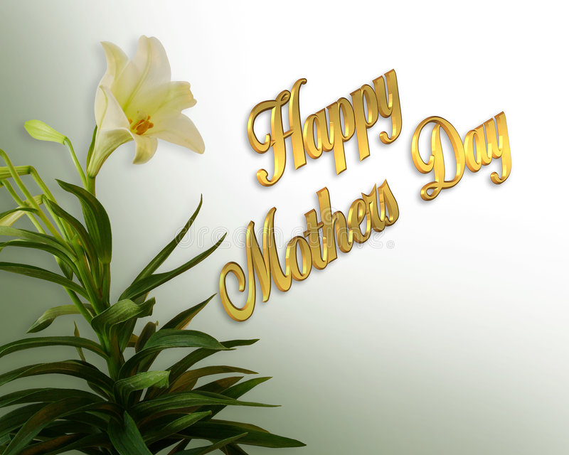 Download Mothers Day Card White Lily Royalty Free Stock Photo - Image: 4714855