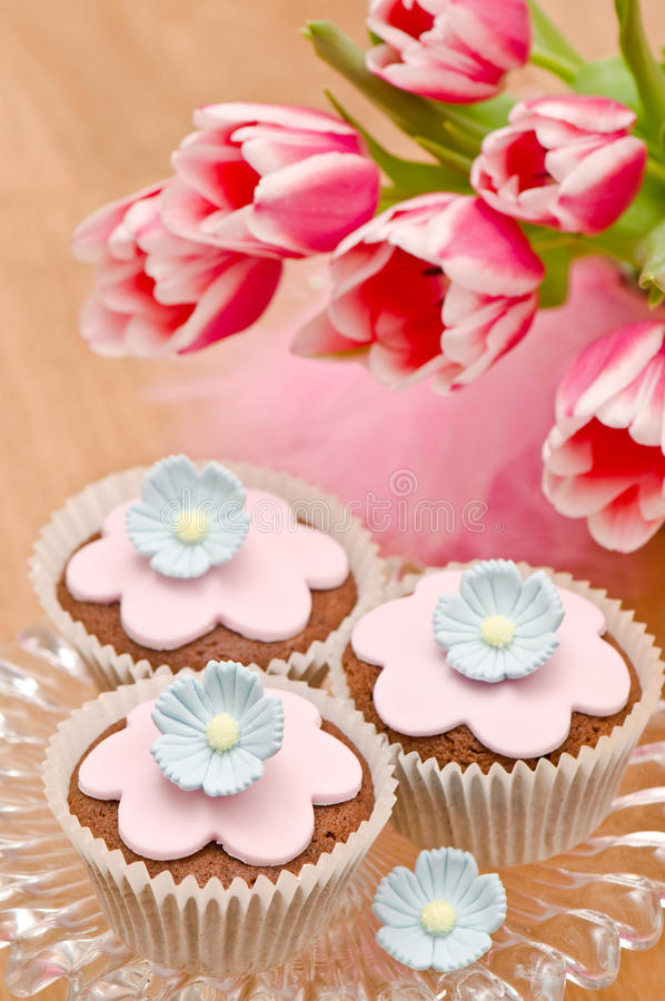 Mothers Day Cupcakes stock photo