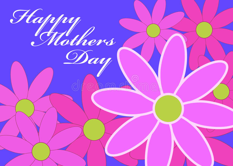 Mothers Day Daisies stock illustration