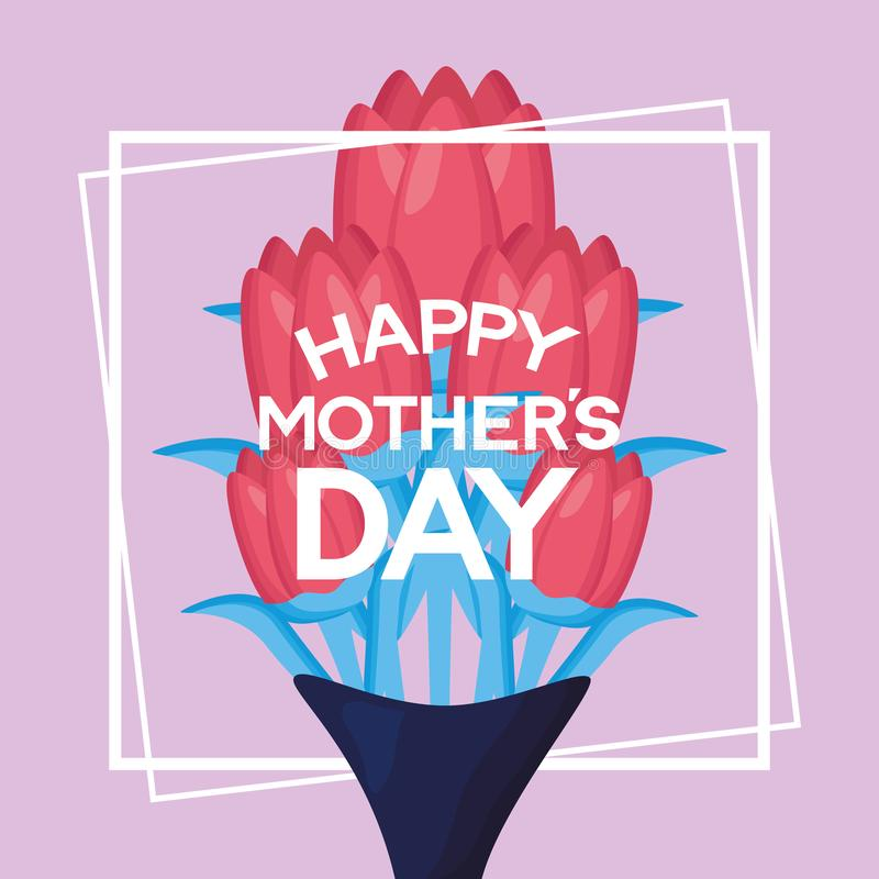 Mothers day flowers royalty free illustration