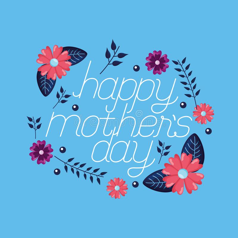 Mothers day flowers stock illustration