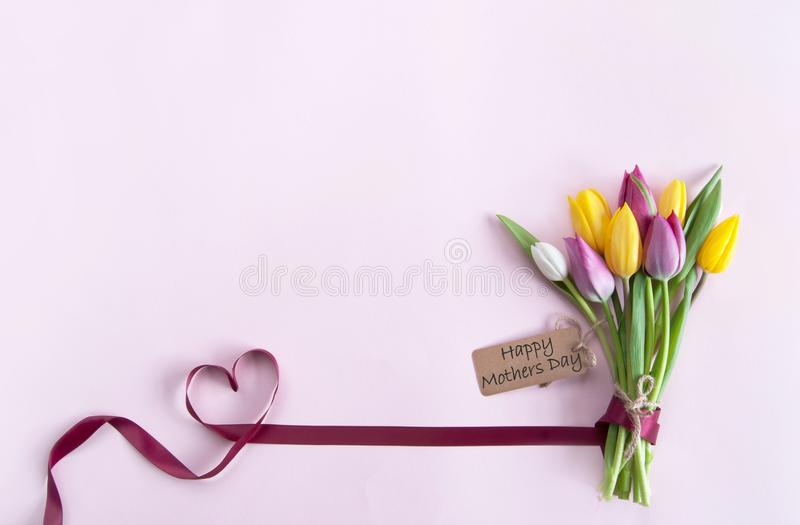 Mothers day flowers stock image