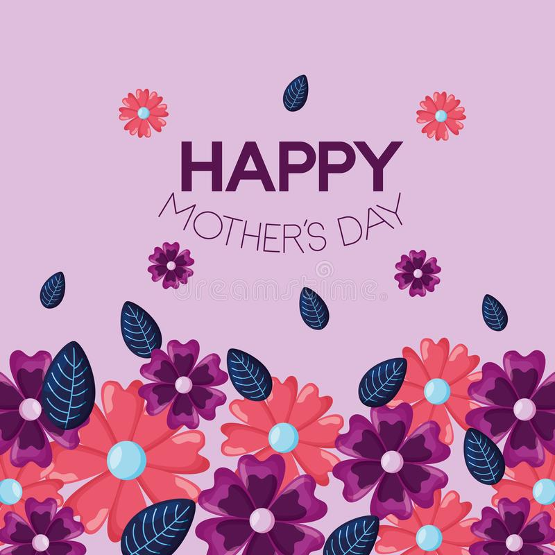 Mothers day flowers vector illustration