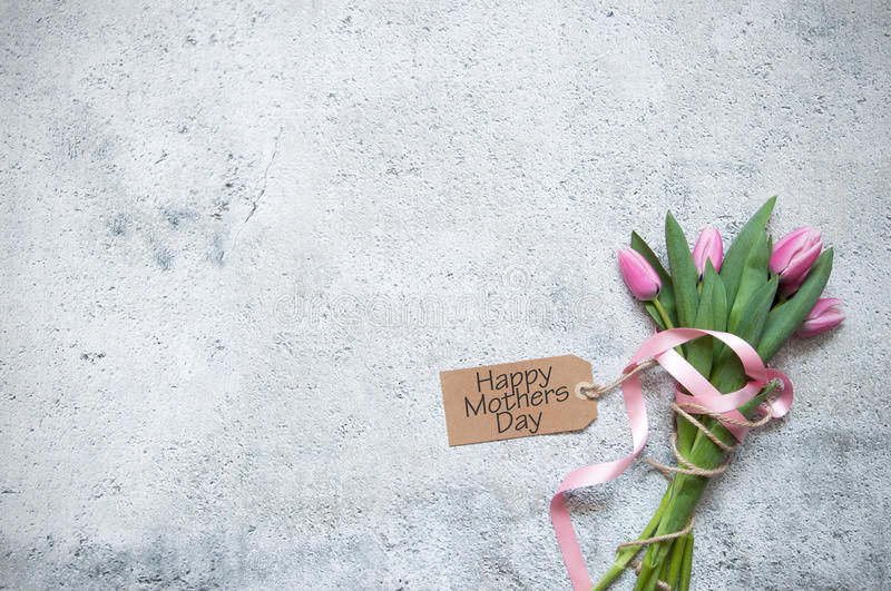 Mothers day gift flowers royalty free stock photos