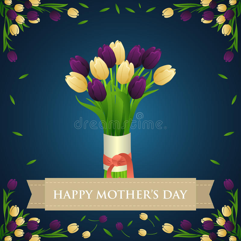 Mothers Day Greeting Card stock illustration