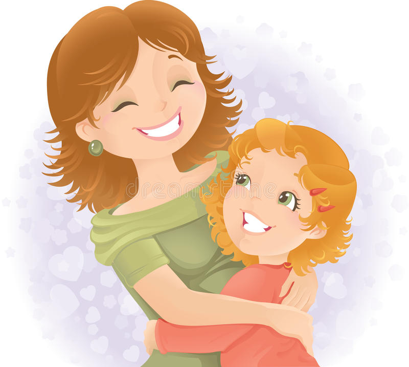 Mothers day greeting illustration. vector illustration