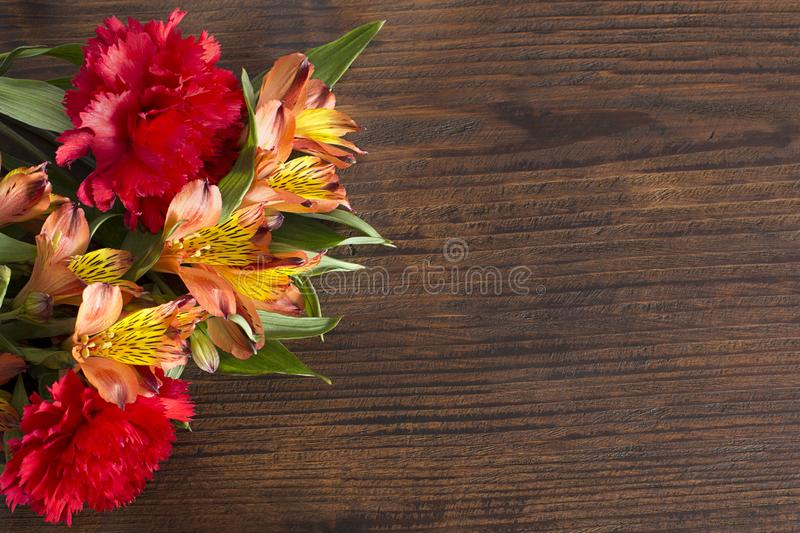 Mothers Day. Happy mother days colored flower bouqet royalty free stock photography
