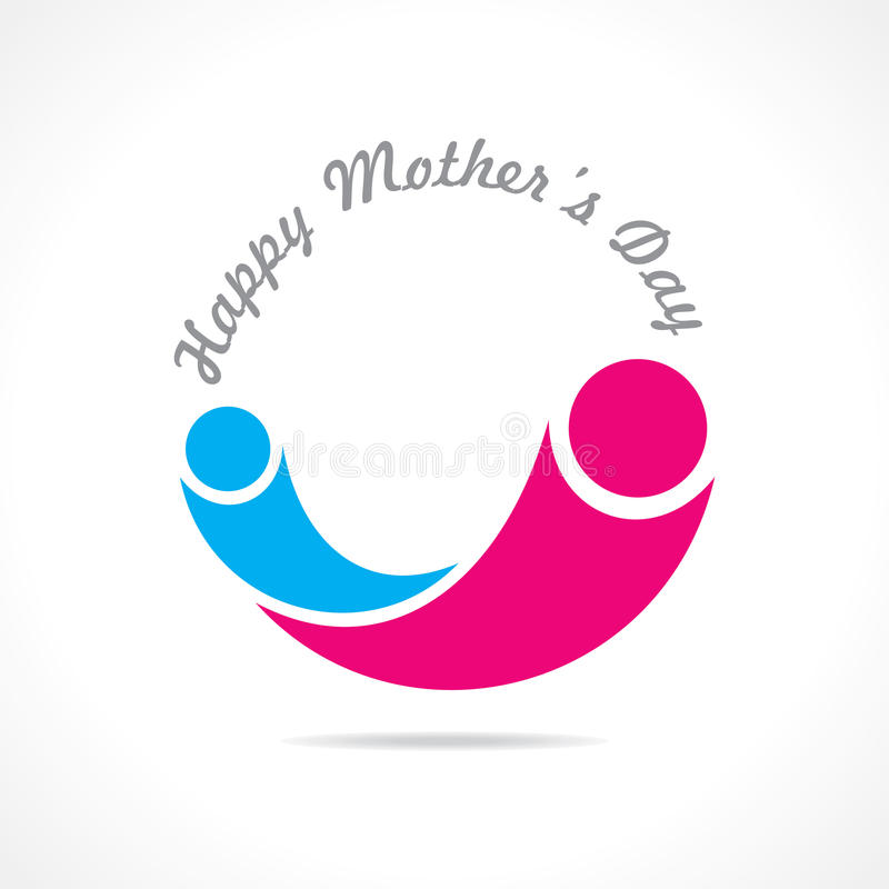 Mothers Day Icon Design Stock Photos