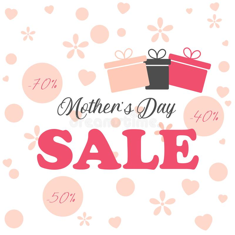 Mothers day sale background layout for banners,wallpaper,flyers, invitation, posters, brochure, voucher discount. Vector stock illustration
