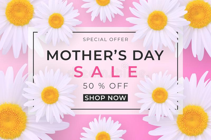 Mothers day sale background stock illustration