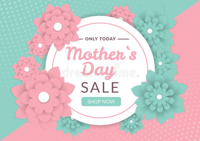 Mothers day sale banner royalty free illustration
