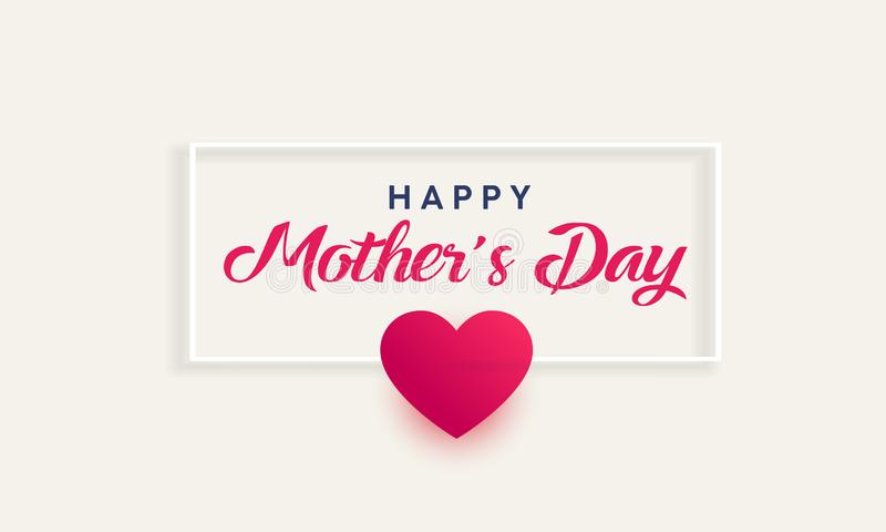 Mothers Day sign stock illustration