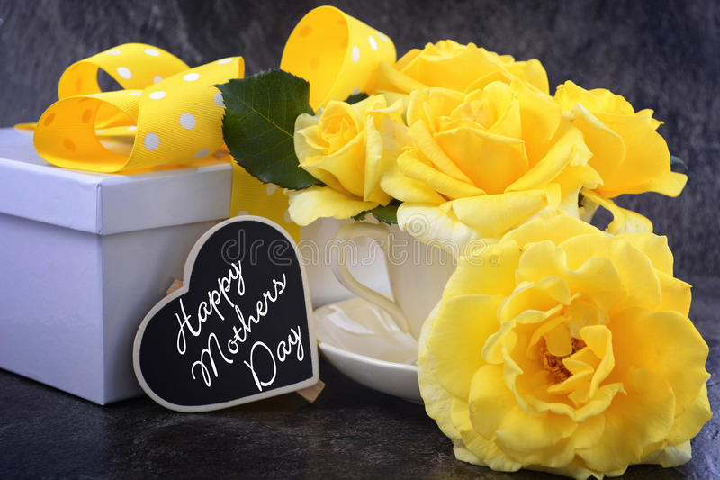 Mothers Day yellow roses royalty free stock photos