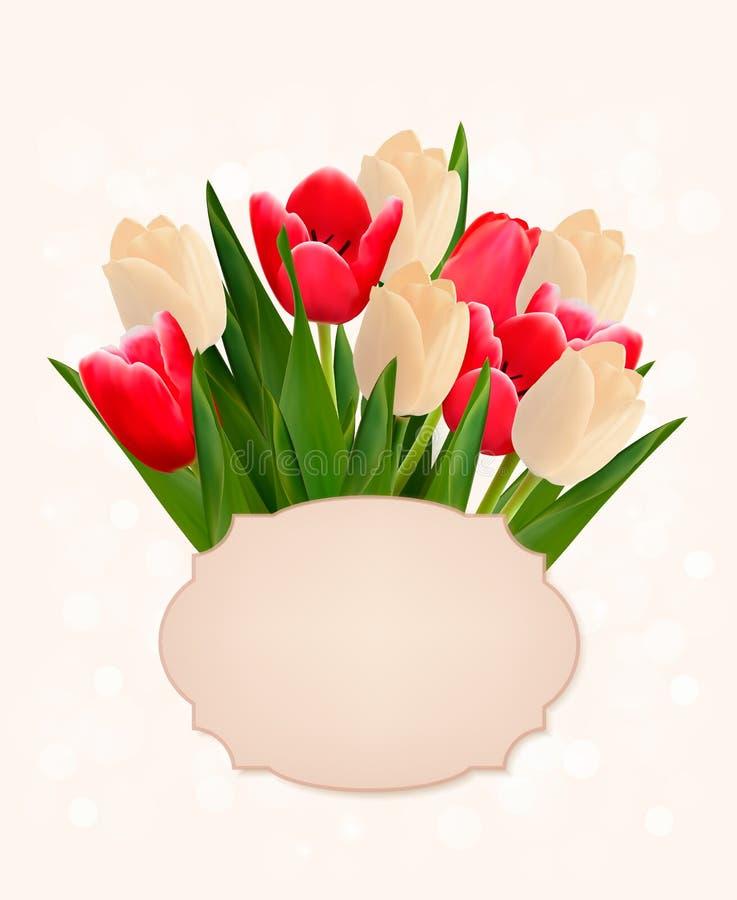 Mothers dnia wakacyjny tło z bukietem kolorowy kwiat royalty ilustracja