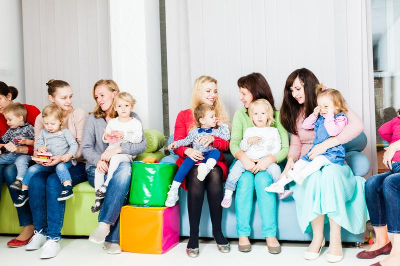 Mothers with kids royalty free stock image