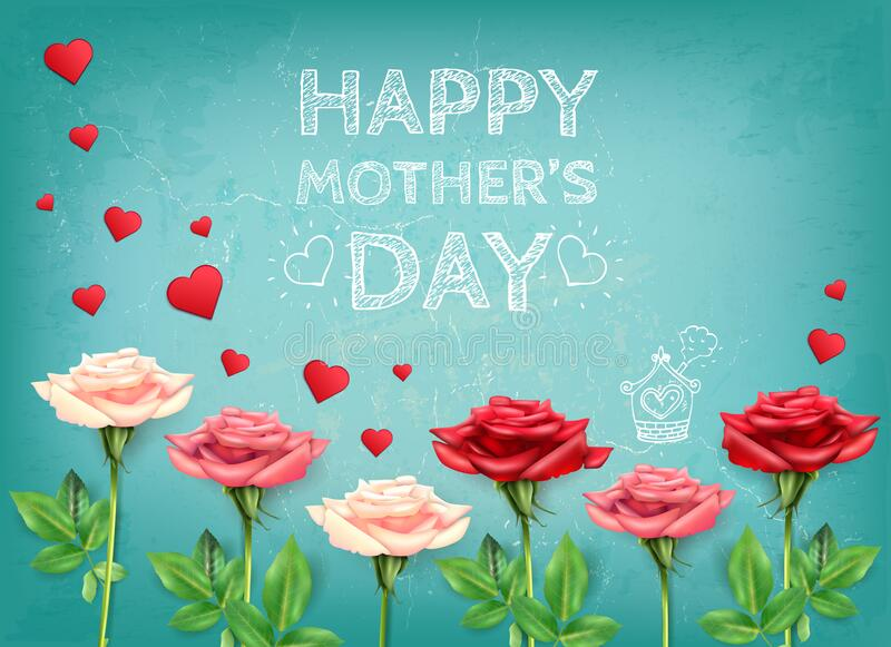 Mothers Love Flowers Background royalty free stock photo