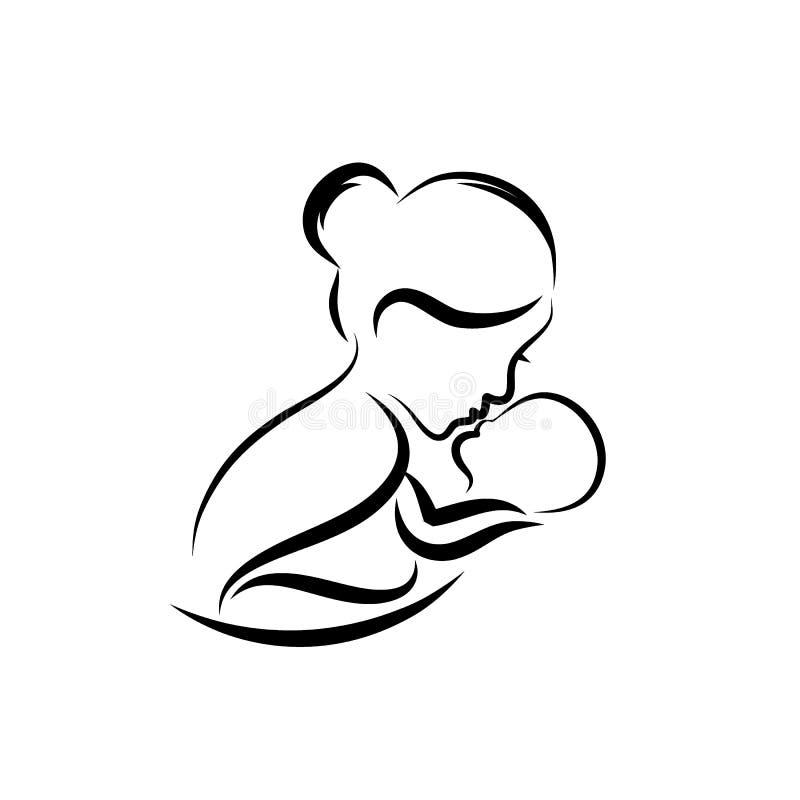 Breastfeeding Drawing Stock Illustrations 303 Breastfeeding
