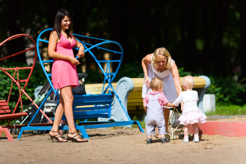 Download Mothers Playing With Children Stock Image - Image: 13771501