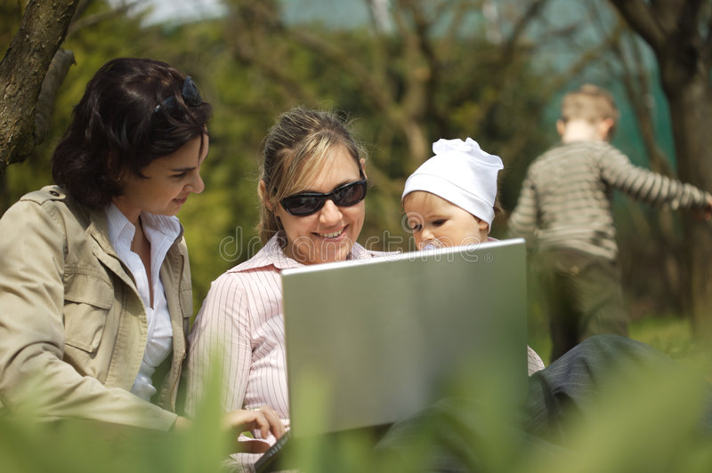 Download Mothers are using a laptop stock photo. Image of career - 2235420