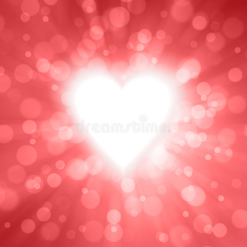 Motie en radiale vage glanzende rode valentijnskaartachtergrond vector illustratie