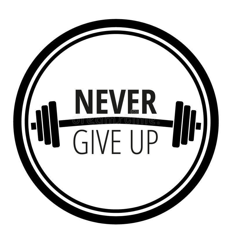 Motievencitaat over de gymnastiek van de traininggeschiktheid en het bodybuilding/de typografie van het Motivatieconcept/Vectoril vector illustratie