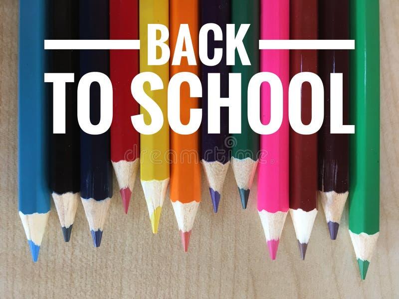 Motievencitaten van terug naar school stock afbeelding