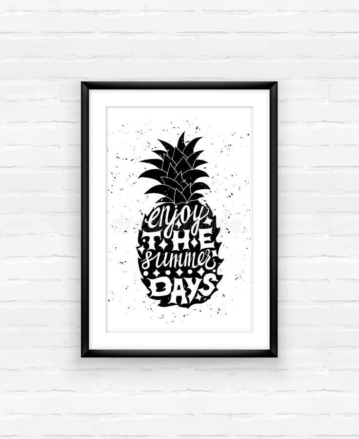 Download Motievenreisaffiche Met Ananas Vector Illustratie - Illustratie bestaande uit vakantie, decoratief: 54082474