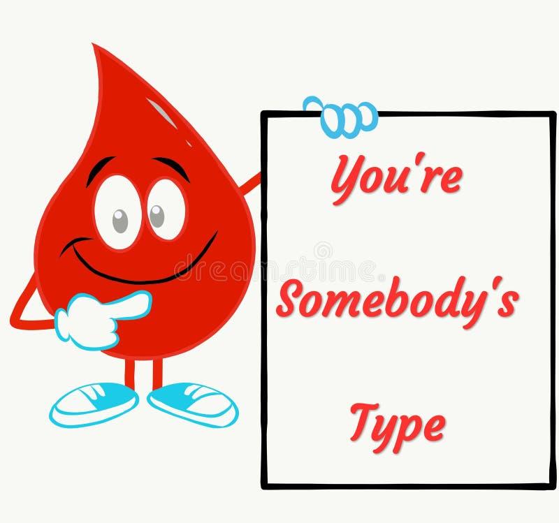 Motieventekst voor bloeddonatiekamp royalty-vrije illustratie