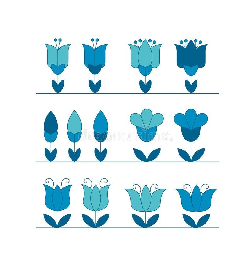 Motif abstrait assorti de fleur de tulipe illustration de vecteur
