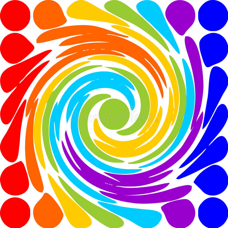 Motif abstrait moderne de spirale d'arc-en-ciel illustration stock