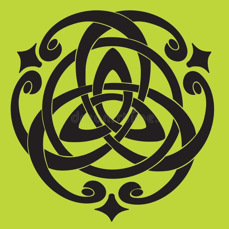 Motif celtique de noeud illustration libre de droits
