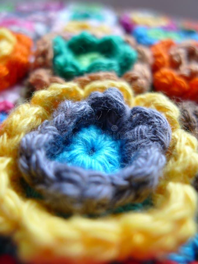 Motif de fleur de crochet images stock
