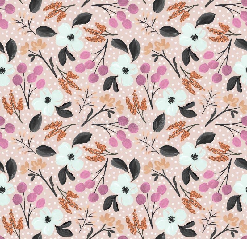 Motif de la fleur d'eau Conception textile Carte d'invitation illustration libre de droits