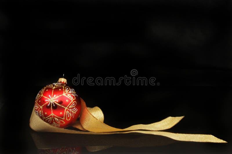 Motif de Noël contre le noir photographie stock