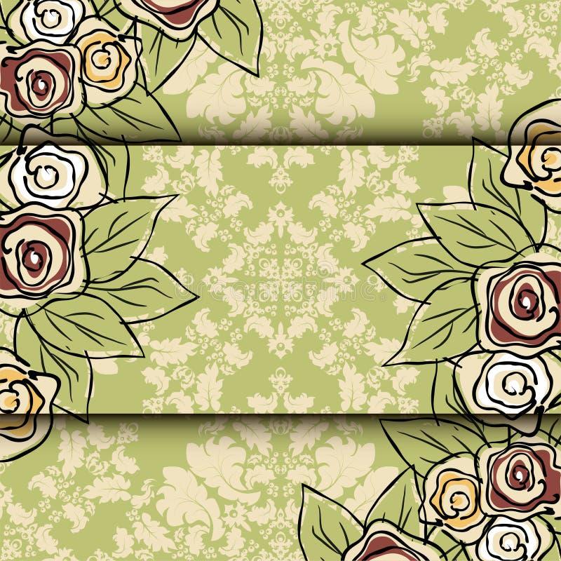 Motif de Rose Vecteur d'éléments de conception de fleur illustration libre de droits