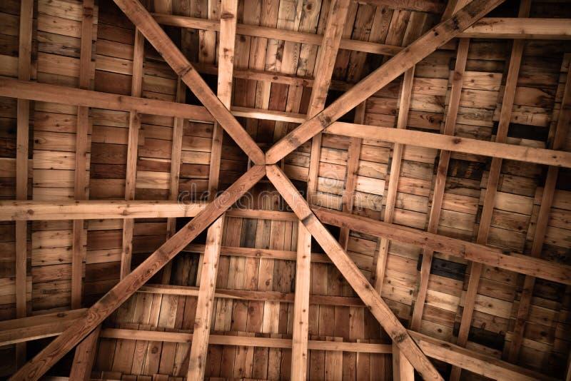 Motif en bois de texture de conception de structure de plafond photographie stock