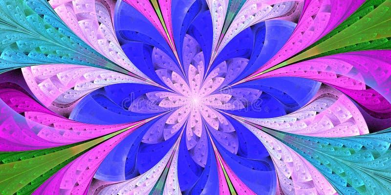 Motif floral multicolore en vitrail Vous pouvez l'utiliser pour des invitations, des couvertures pour portables, des étuis téléph illustration de vecteur