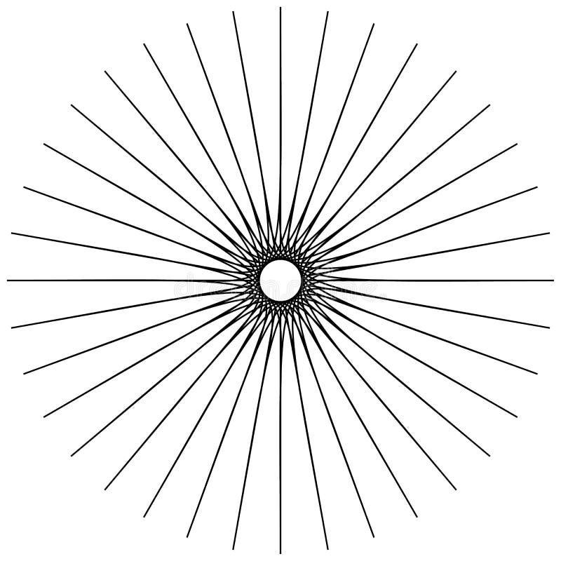 Motif géométrique circulaire Élément abstrait d'op-art de gamme de gris illustration stock